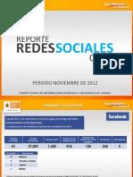 Reporte de Redes Sociales CEIEG, noviembre 2012