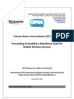 OpenMedia.ca/CIPPIC's Comments for CRTC 2012-557 (Code of Conduct for Cell Phone Companies)