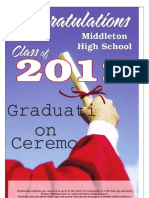 Middleton High School 2012 Graduation Supplement