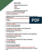 Rezolvare Finala Grile Drept International Privat..