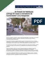 13.09 - Extra - Secretaria de Estado de Habitação entrega 52 casas a moradores de Comendador Levy Gasparian