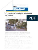 17.09 - O Cidadão - 52 casas são entregues no interior do estado
