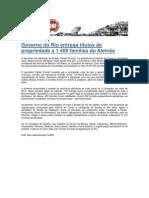 26.09 Agência de Notícias das Favelas - Governo do Rio entrega títulos de propriedades a 1.400 famílias do Alemão