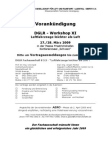 Vorankündigung DGLR - Workshop XI