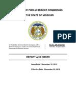 Report & Order - Ameren (12/12/12)