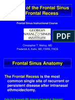 anatomy of frontal sinus & recess