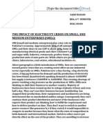 The Impact of Electricity Crises on Small and Medium Enterprises