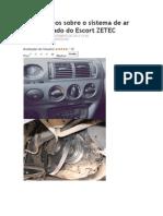 Comentários sobre o sistema de ar condicionado do Escort ZETEC