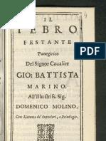 Giovanni Battista Marino - Il Tebro Festante
