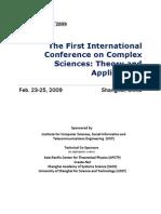 COMPLEX'09 Tentative Technical Program