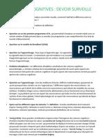 Questions annoncées du DS de Sciences Cognitives