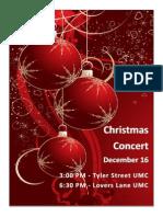 Christmas Concert Flyer 2012