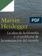 Heidegger - La Idea de La Filosofia y El Problema