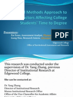 A Mixed Methods Approach to Examine Factors Affecting College Students' Time to Degree