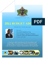 St. Lucia, 2011 Budget Address for the Financial Year 2011/2012, April 2011