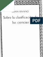Sobre la clasificación de las ciencias