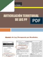 Articulacion de Cadenas Productivas Con Enfoque Territorial