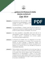 Ley Provincial 10114 Policia Ambiental