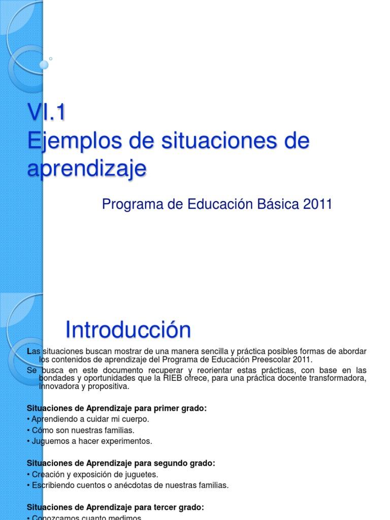Ejemplos De Situaciones De Aprendizaje Aprendizaje Comunicación