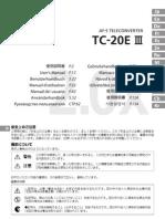 Nikon Teleconverter - Af-s Tc - 20eiii - Manual