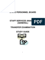 Staff Services Analyst Transfer Exam Studyguide