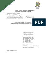 Motion to Establish Criteria for Decision on Desalination Plant Sizing 12-12-12