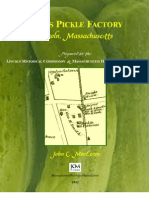 History of the Lewis Pickle Factory, Lincoln, Massachusetts
