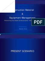 construction Material & Equipment Management