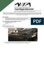 ALTA Intercooler Install