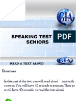 Speaking Test- Level Test