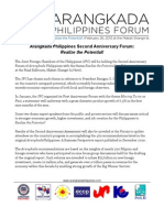 Arangkada Philippines Forum theme for 2013