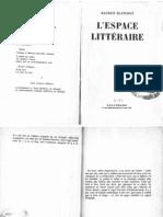 Blanchot, Maurice - L'Espace Littéraire