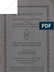 The Rosicrucians in America. The False vs. the True Order of the Rosy Cross, by Dr. Clymer