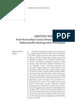 IDENTITAS YANG TERJEPITKrisis Komunikasi Sosial Jemaat AhmadiyahAkibat Konflik Ideologis MUI-Ahmadiyah