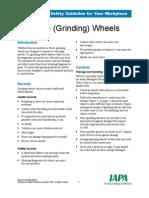 Abrasive Grinding Wheels-HSE Guidelines