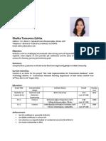 Resume of Shaika Tamanna Eshita