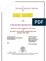 18498910 a Summer Training Project Report On