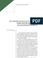 Teori Identitas dan Komunikasi Akomodasi:PERAN PENTING KOMUNIKASIDALAM MENGATASI KONFLIK