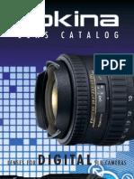 Tokina Lens Catalog