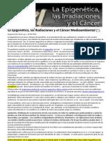 La Epigenetica Las Radiaciones y El Cancer Medioambiental 30-09-2010