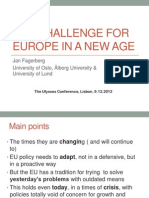 The Challenge for Europe in a New Age 09-12-2012