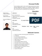 Resume of Saniyat Hossain
