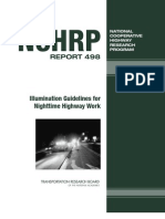 Illumination Guidelines for Nighttime Highway Work