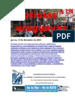 Noticias Uruguayas Jueves 13 de Diciembre Del 2012