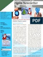 Origiin Newsletter December 2012 issue