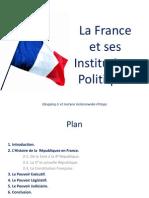 La France Et Ses Institutions Politiques