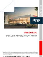 Honda Dealer Application Form