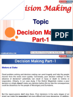 Decision Making Part 1