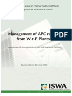 Management of APC Residues From W-T-E Plants 2008 01