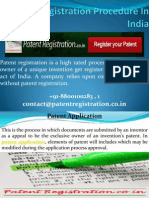 Patent Registration Procedure In India